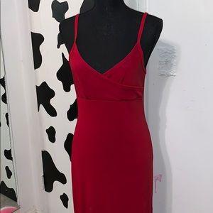 Ladies size large red dress 👗